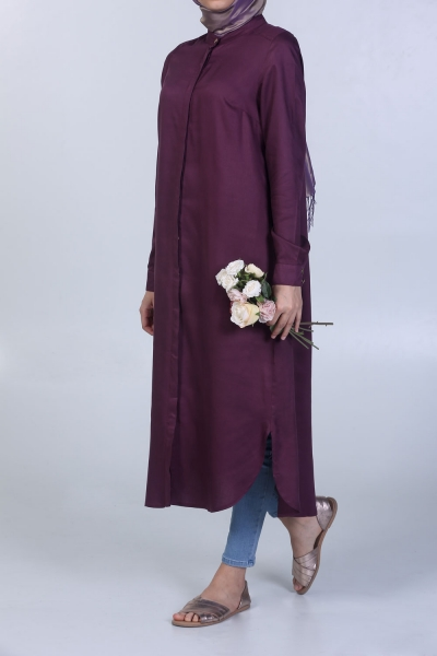 Half Collar Long Tunic