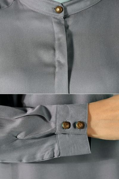 Half Collar Long Tunic