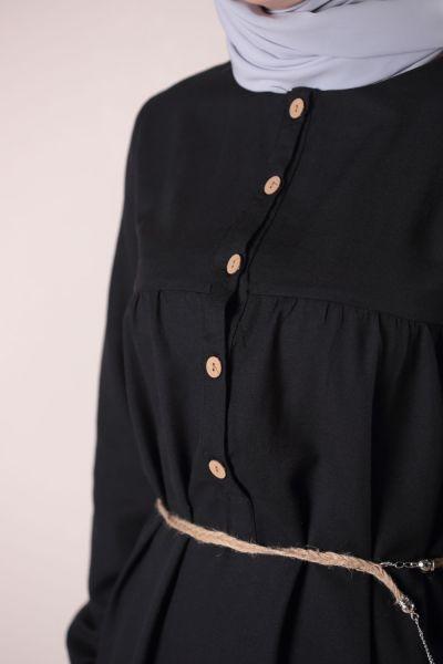 Hasır Kemerli Elbise