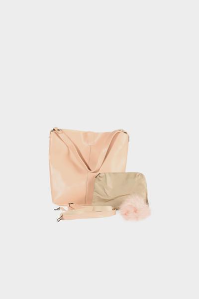 İçi Cüzdanlı Ponponlu Çanta