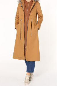 ZIPPERED OVERCOAT