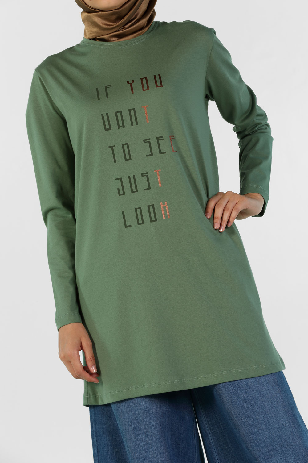 IF YOU WANT PRINTED COMBED COTTON TUNIC