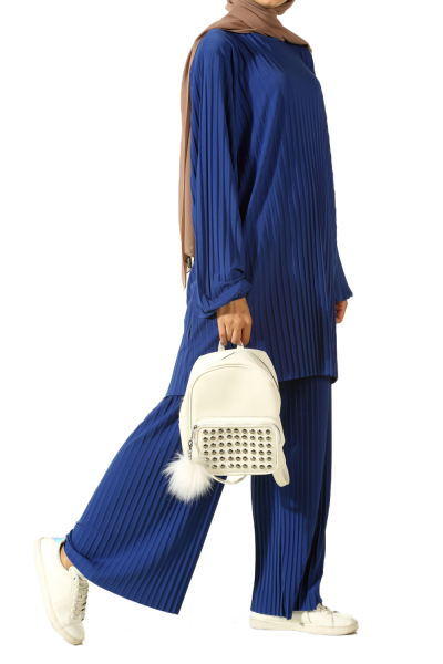 Pantolonlu İkili Pliseli Takım