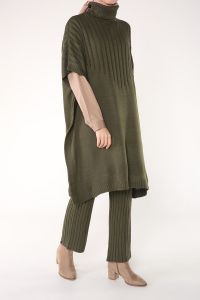 İkili Pantolonlu Triko Takım
