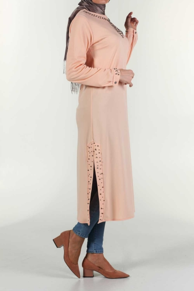 İnci Kravatlı Tunik