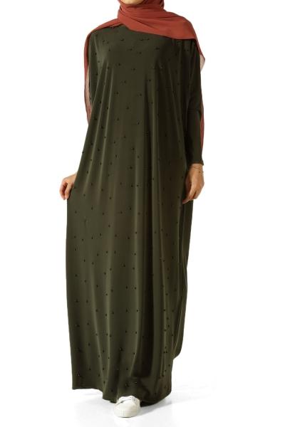 Boncuklu Uzun Elbise