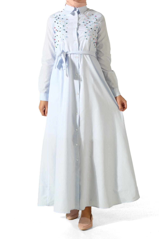 İncili Nakışlı Elbise