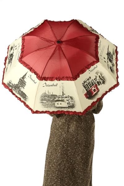 İstanbul Desenli Şemsiye