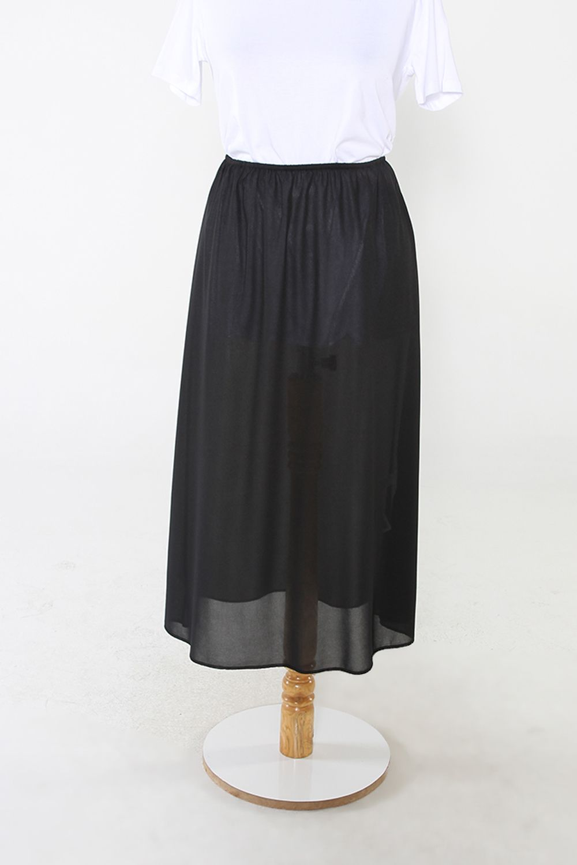 Elastic Waist Skirt Lining