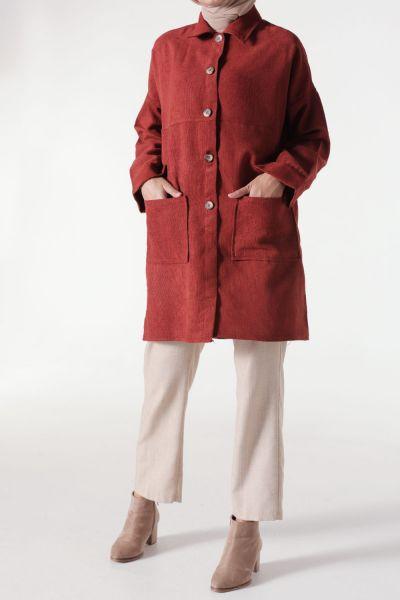 Kadife Cepli Salaş Ceket