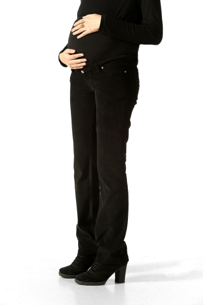 VELVET MATERNITY TROUSERS