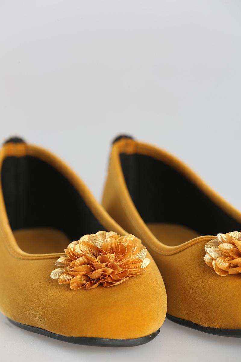 Kadife Kumaş Çiçek Ev Babeti
