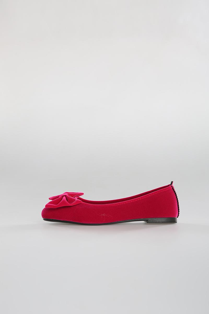Velvet Fabric Flat Shoes