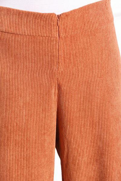 Kadife Pantolonlu Yarım Patlı İkili Takım