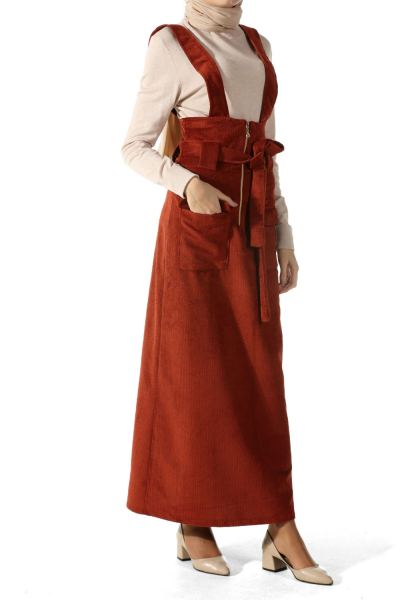 Kadife Salopet Elbise