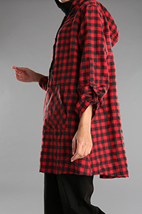 Pocket Detailed Hooded Buttoned Tunic