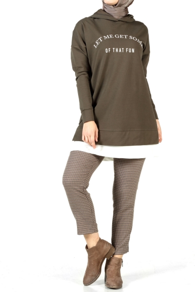 HOODED PRINTED TUNIC
