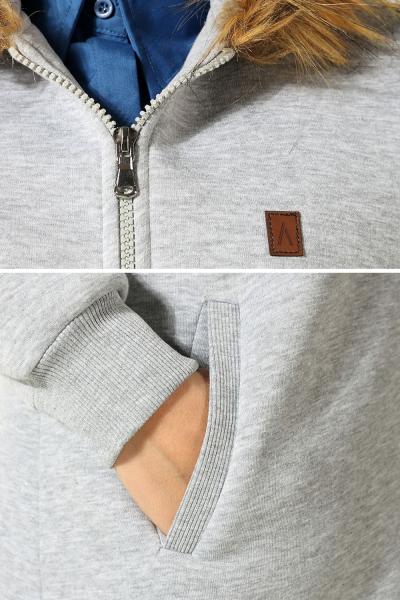 Furry Zippered Hooded Cardigan