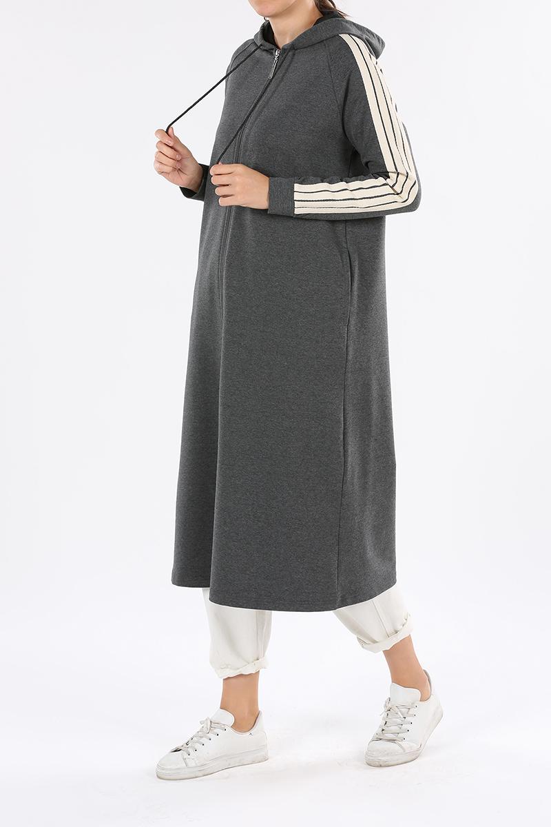 Hooded Zippered Cardigan