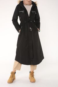HOODED LINED OVERCOAT