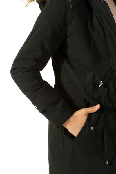 LINED HOODED COAT