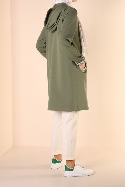 HOODED POCKET TUNIC