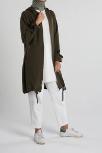 Zippered Hooded Pocket Cape