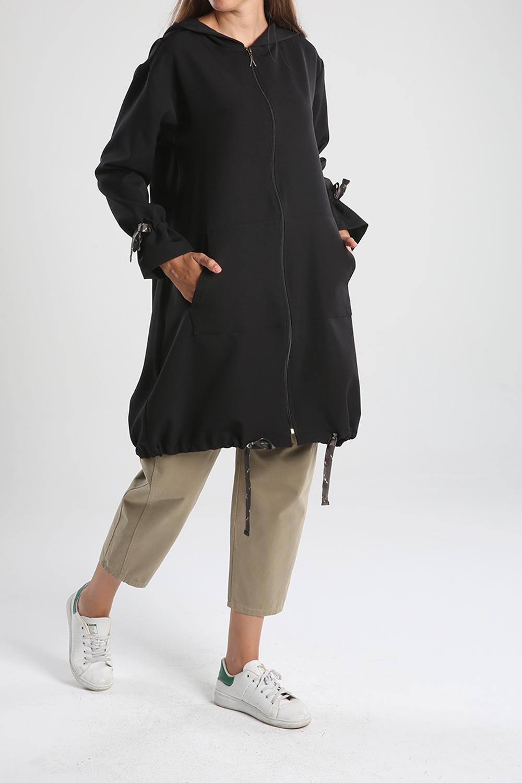 Zippered Hooded Pocket Cape