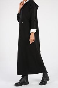 Kapüşonlu Basic Elbise