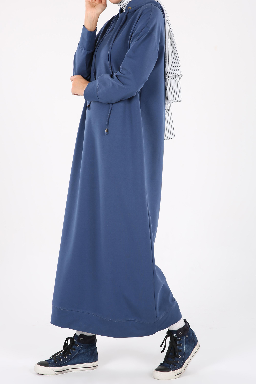 Hooded Basic Maxi Dress