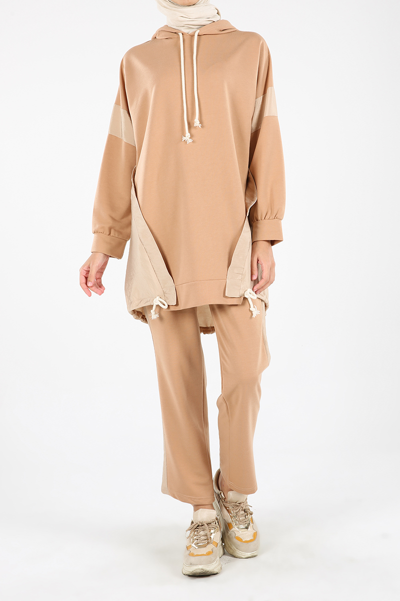 Hooded Asymmetric Track Suit