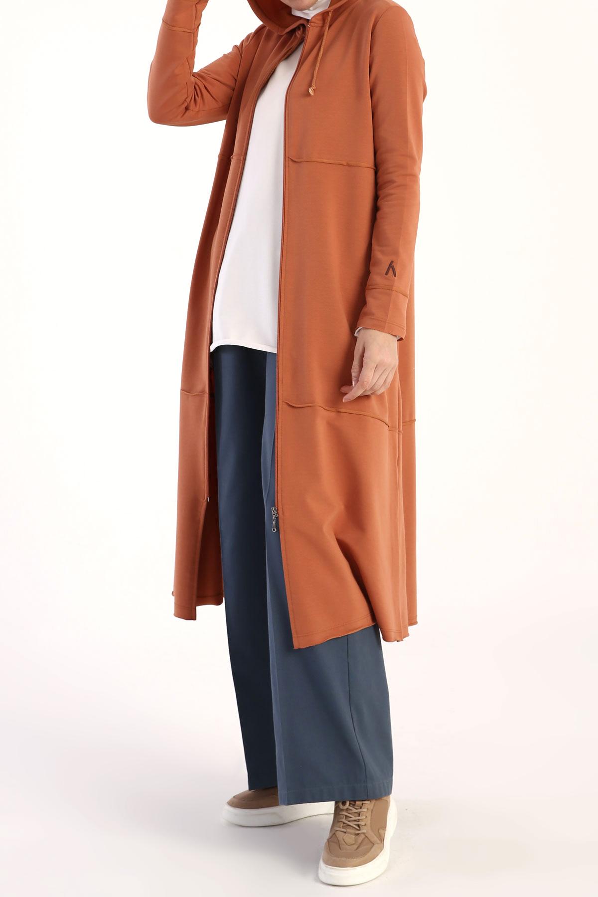 Cotton Hooded Cardigan