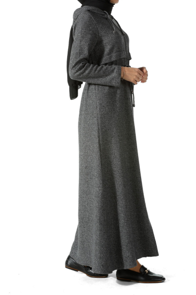 HOODED ZIPPERED ABAYA