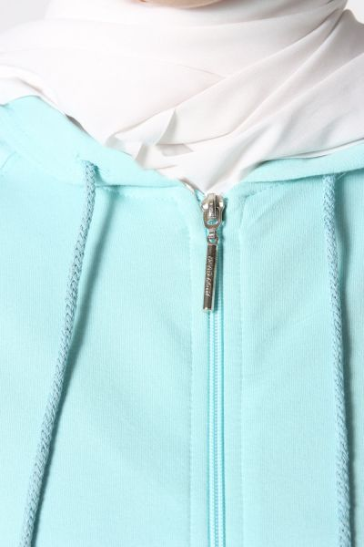 Hooded Zipper Combed Cotton Cardigan