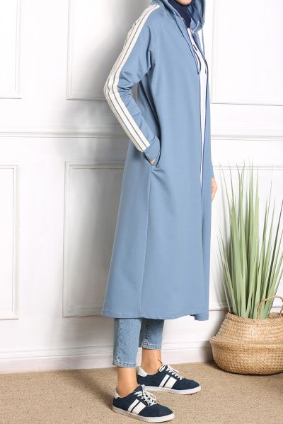 Hooded Combed Cotton Cardigan