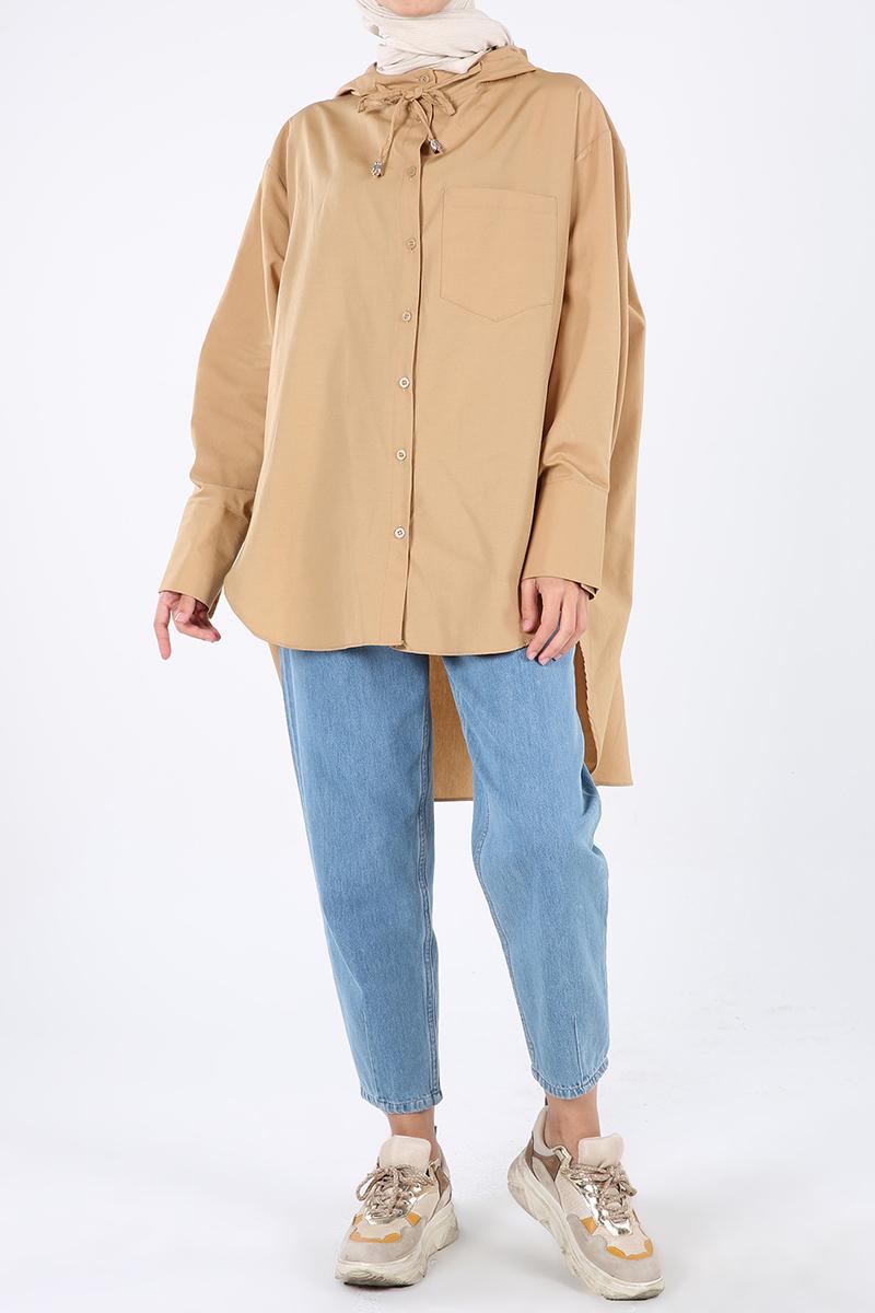 Hooded Pocket Detail Salas Shirt Tunic