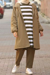HOODED OVERCOAT