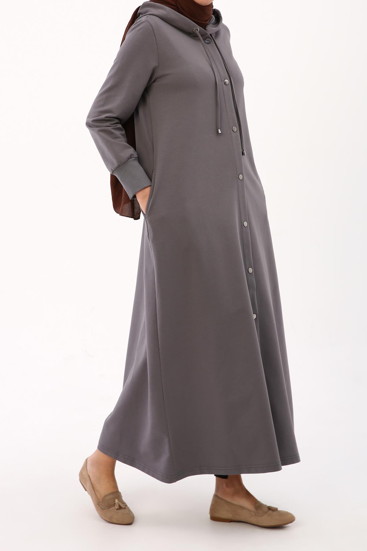 Hooded Eyelet Abaya