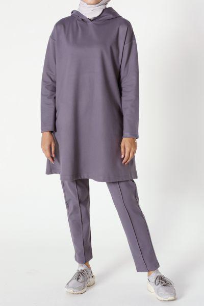Kapüşonlu Pantolonlu Takım