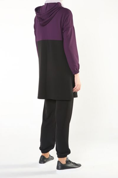 HOODED TUNIC WITH PANTS