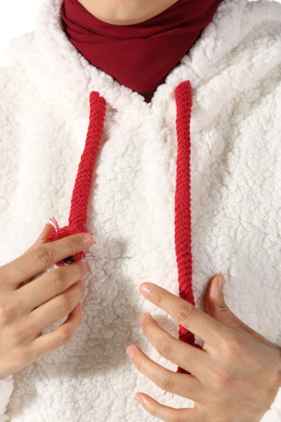 Kapüşonlu Peluş Sweatshirt