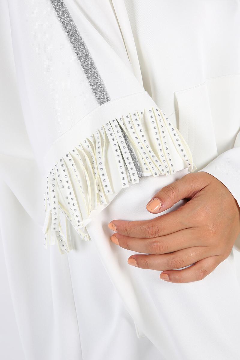 Hooded Tasseled Pocket Sweatshirt