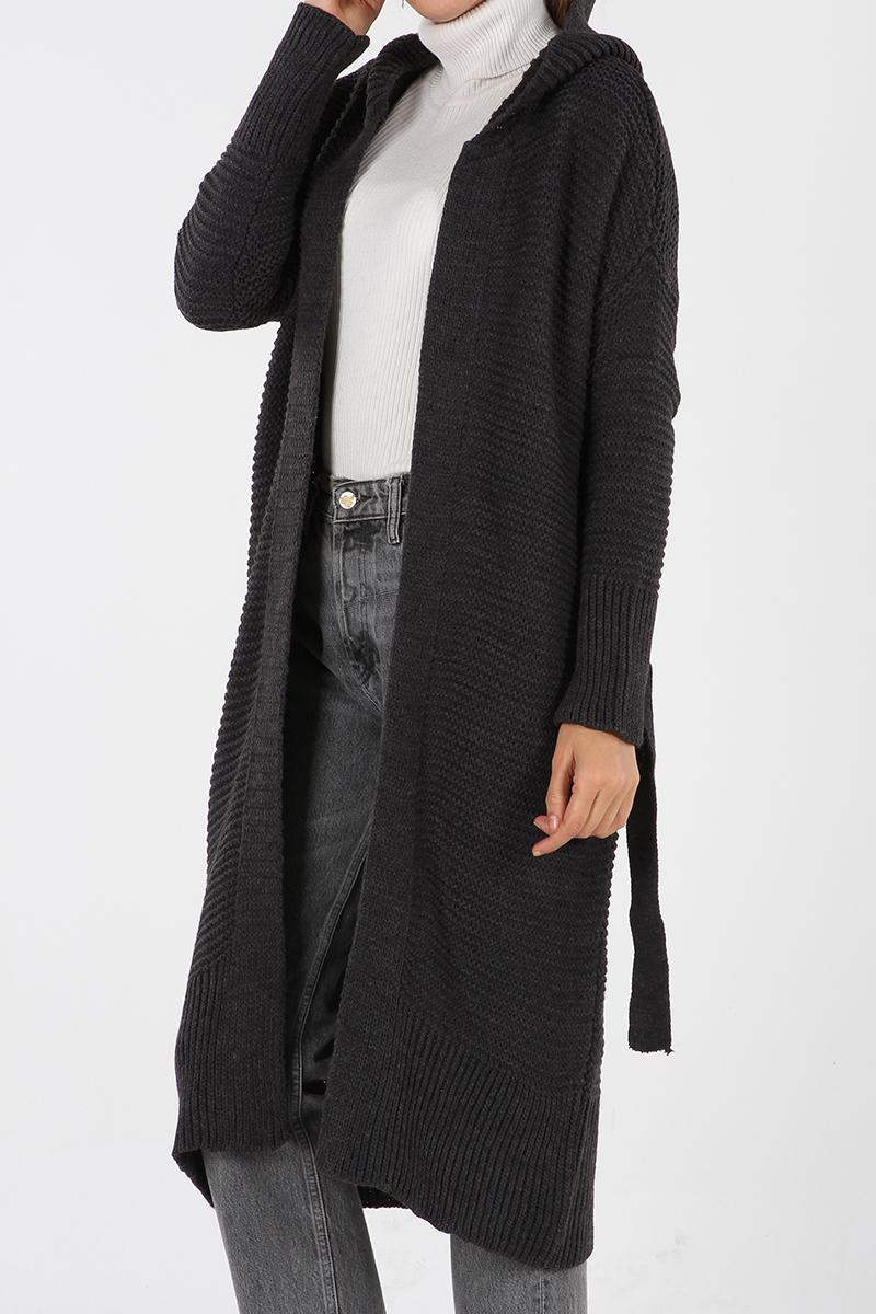 Belted Hooded Salas Cardigan