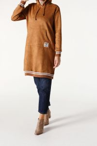 HOODED SUEDE TUNIC