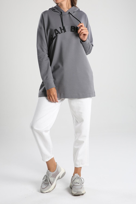 Hooded Embroidered Sweatshirt