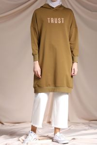 HOODED T-SLEEVE TUNIC
