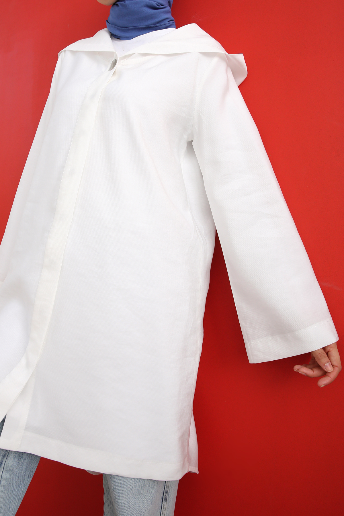 Hooded Buttoned Comfy Cape
