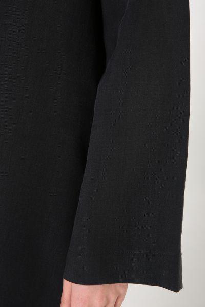 Kapüşonlu Düğmeli Tensel Tunik