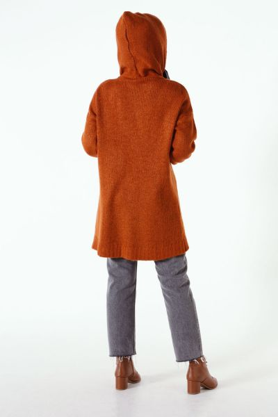 HOODED KNITWEAR SWEATSHIRT