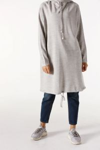 HOODED KNITWEAR TUNIC